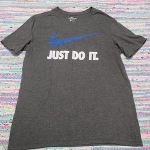 """Nike """"Just Do It"""" Gray SS Tee size Large"""